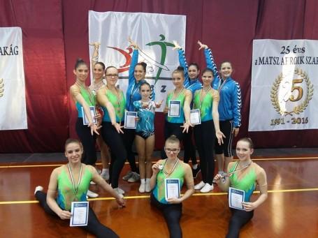 Kiváló aerobikos eredmények az Országos Magyar Kupán