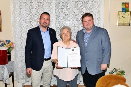 90. születésnapján köszöntöttük Gazsó Mihályné, Kata nénit