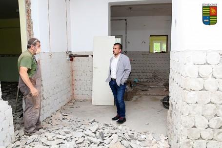 Hamarosan befejeződik az általános iskola ebédlőjének és tálalókonyhájának a felújítása