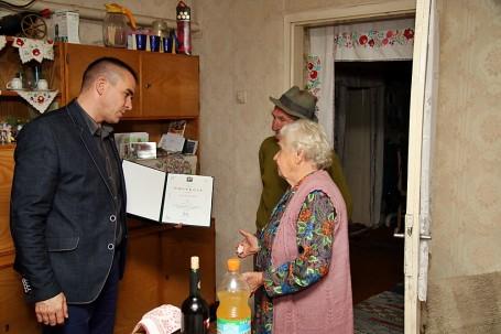 Ivacska Istvánné szépkorú köszöntése