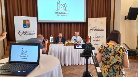 Sajtótájékoztató a Magyar Falu program keretében megvalósult pályázatokról