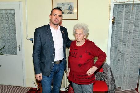 90. születésnapján köszöntöttük Majoros Györgynét