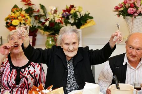 100. születésnapján köszöntöttük városunk legidősebb polgárát