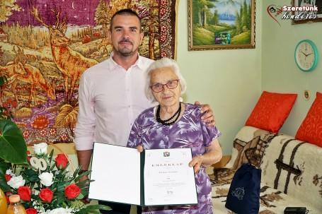 Molnár Istvánné, Irénke néni köszöntése a 90. születésnapján