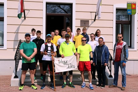 Hatodszorra is városunkban köszönthettük megyénk futónagykövetét