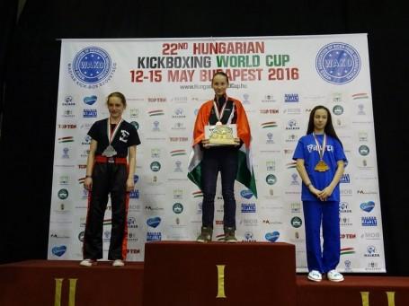 Kimagasló siker a kickboxosoknál a XXII. Magyar Világkupán